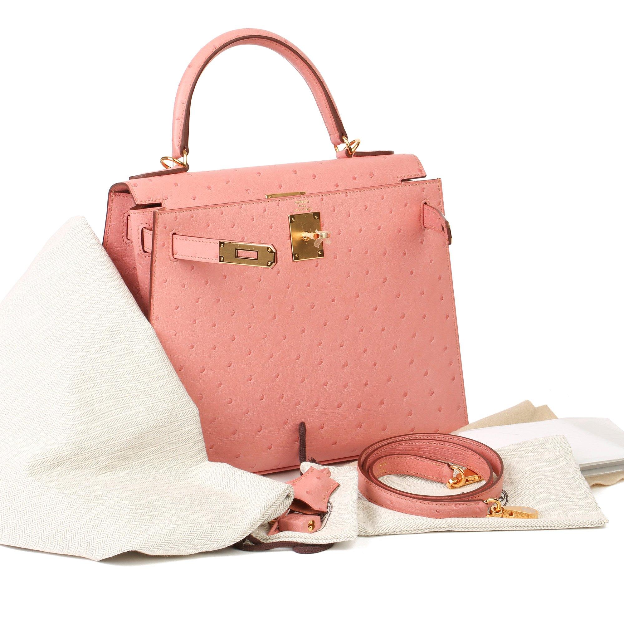 Hermès Terre Cuite Ostrich Leather Kelly 28cm Sellier