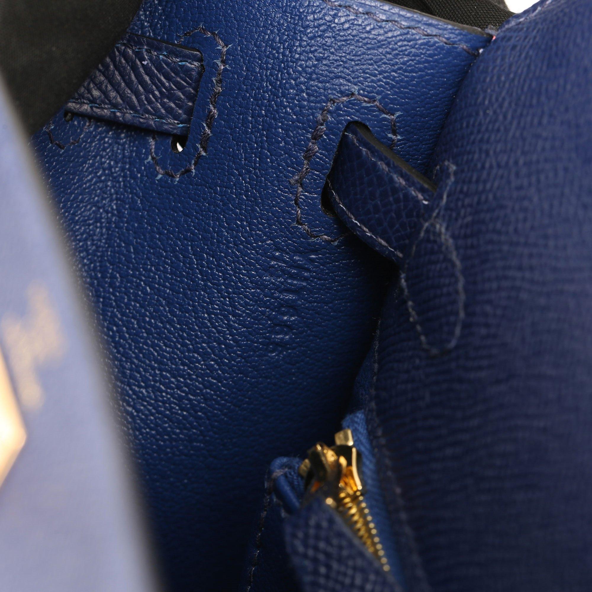 Hermès Blue Saphir Epsom Leather Kelly 25cm Sellier