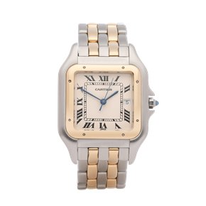Cartier Panthère Jumbo 2 Row 18K Stainless Steel & Yellow Gold - 1100