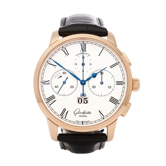 Glashutte Senator Chronograph 18K Rose Gold - W13701010530