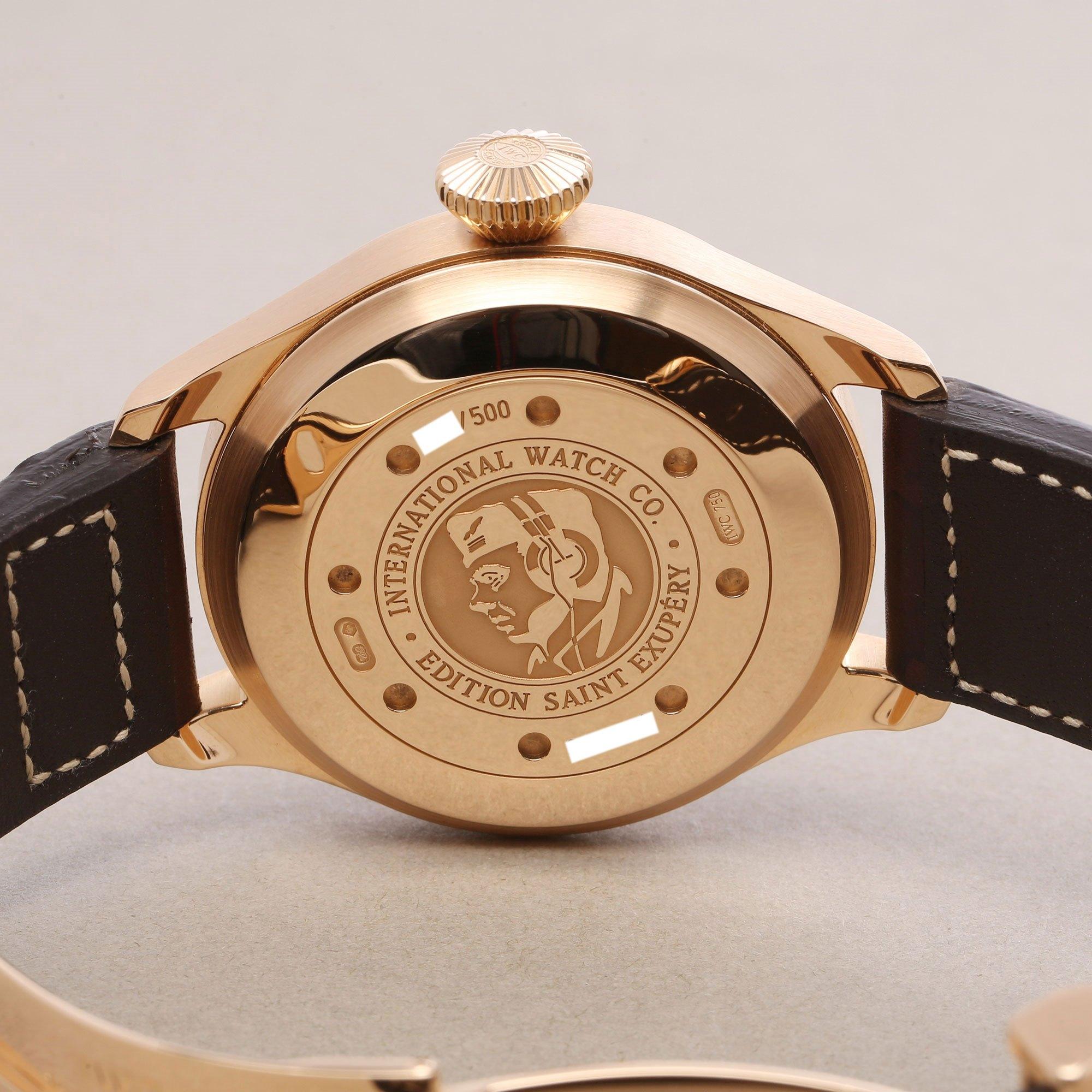 IWC Big Pilots Saint Exupery Ltd Edition 18K Rose Gold IW500421