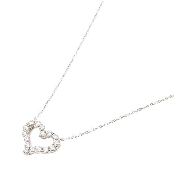 Tiffany & Co. Hearts Small 0.54ct Diamond platinum pendant