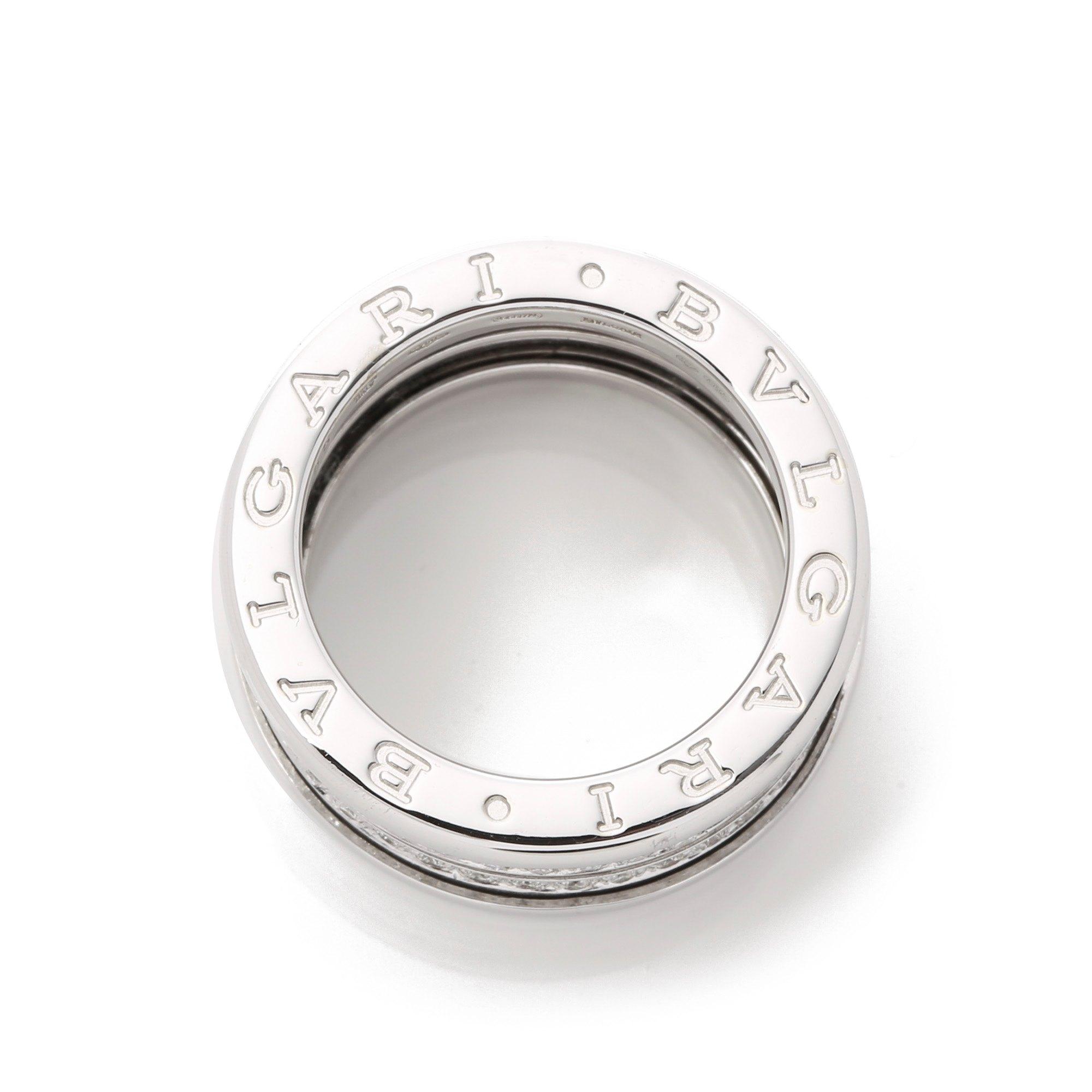 Bulgari B Zero 1 Four Row Pave Set Diamond Ring