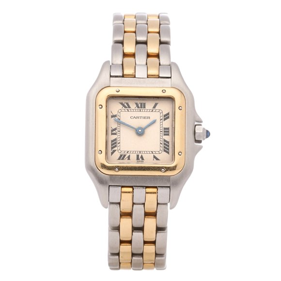 Cartier Panthère 2 Row 18K Stainless Steel & Yellow Gold - 166921