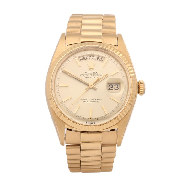 """Rolex Day-Date 36 """"Wide-Boy"""" Dial 18K Yellow Gold - 1803"""