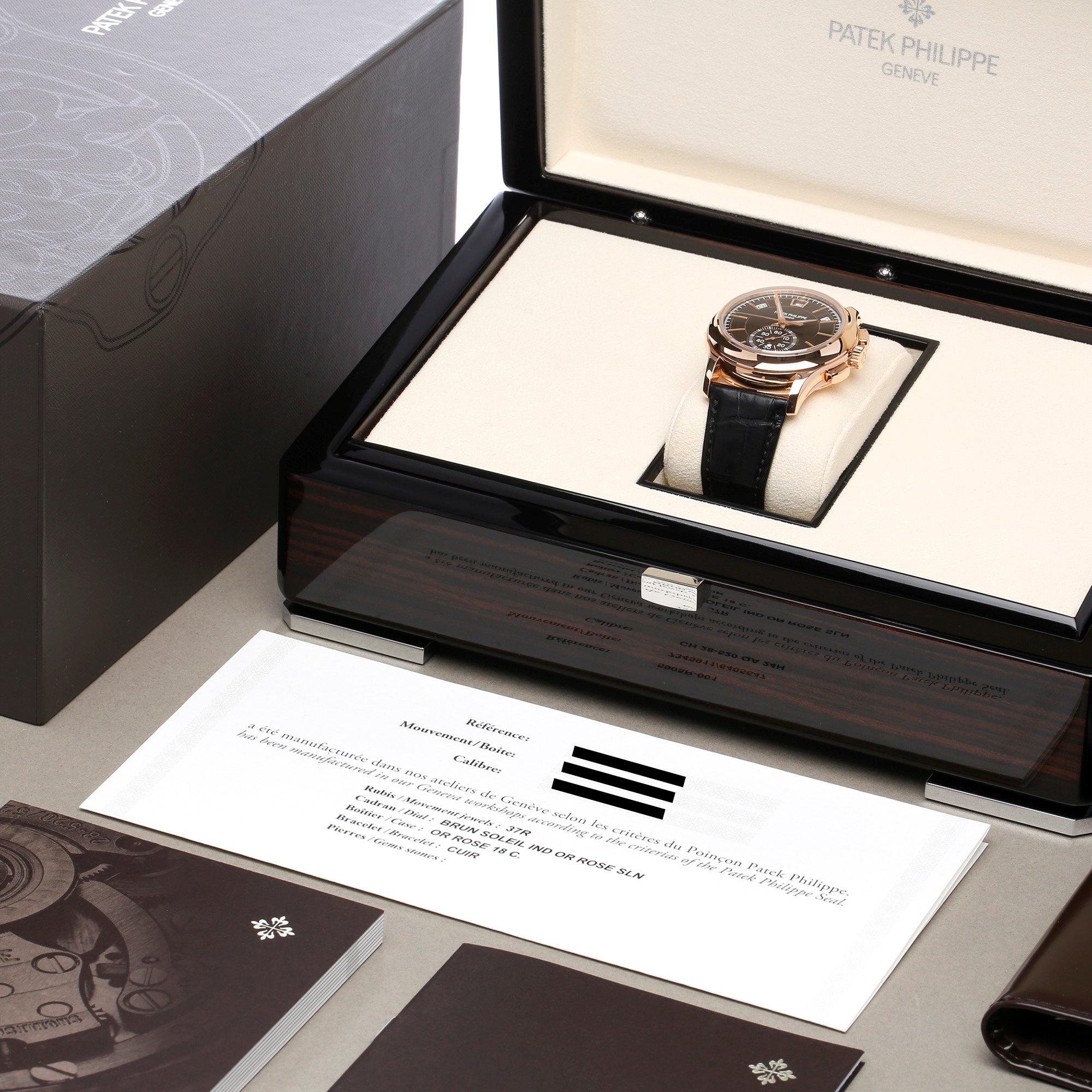 Patek Philippe Annual Calendar Chronograph Unworn 18K Rose Gold 5905R-001