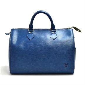 Louis Vuitton Vintage Blue Epi Leather Vintage Speedy 30