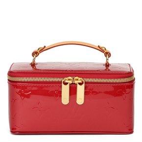 Louis Vuitton Red Vernis Leather Vintage Mini Jewellery Case