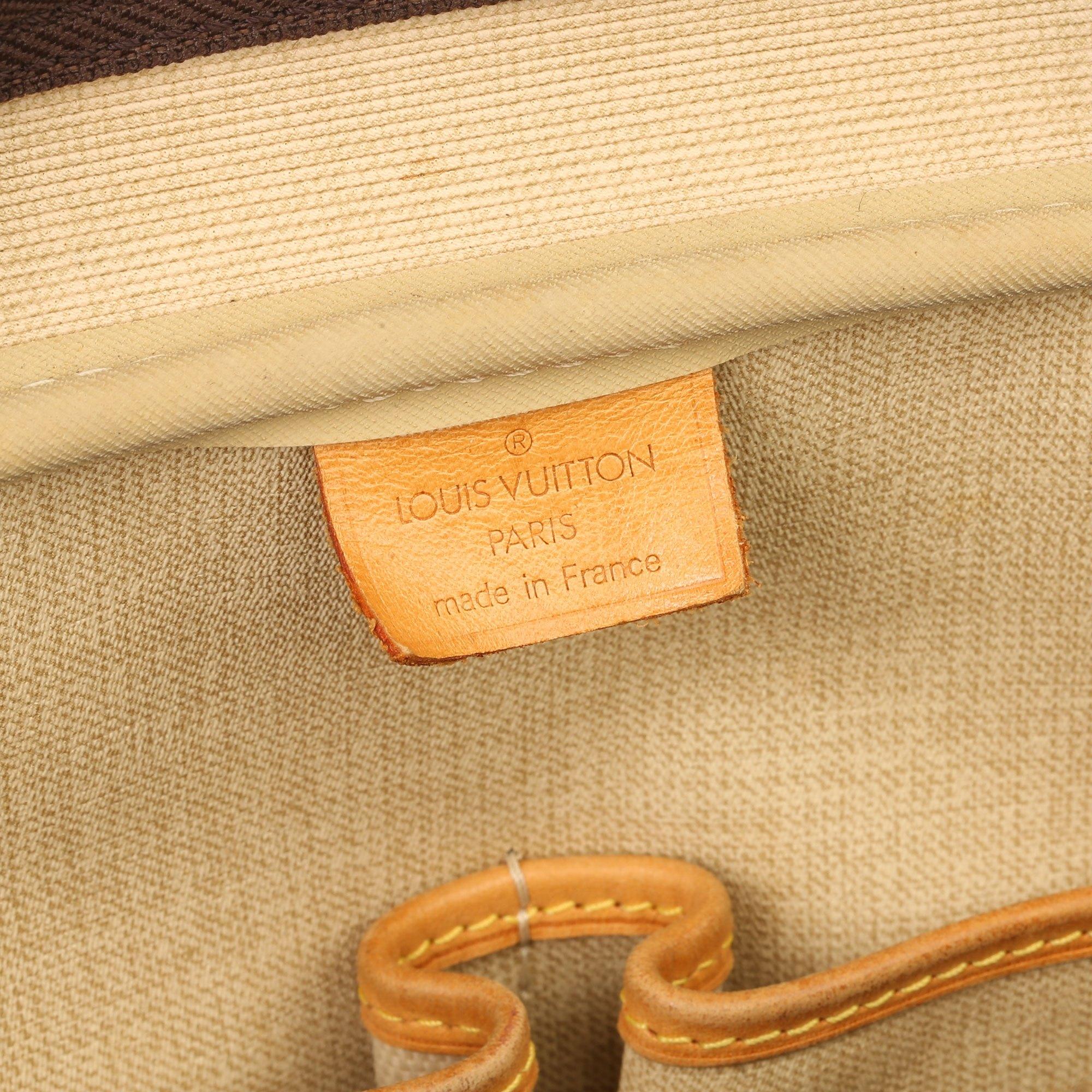 Louis Vuitton Brown Monogram Coated Canvas Vintage Deauville