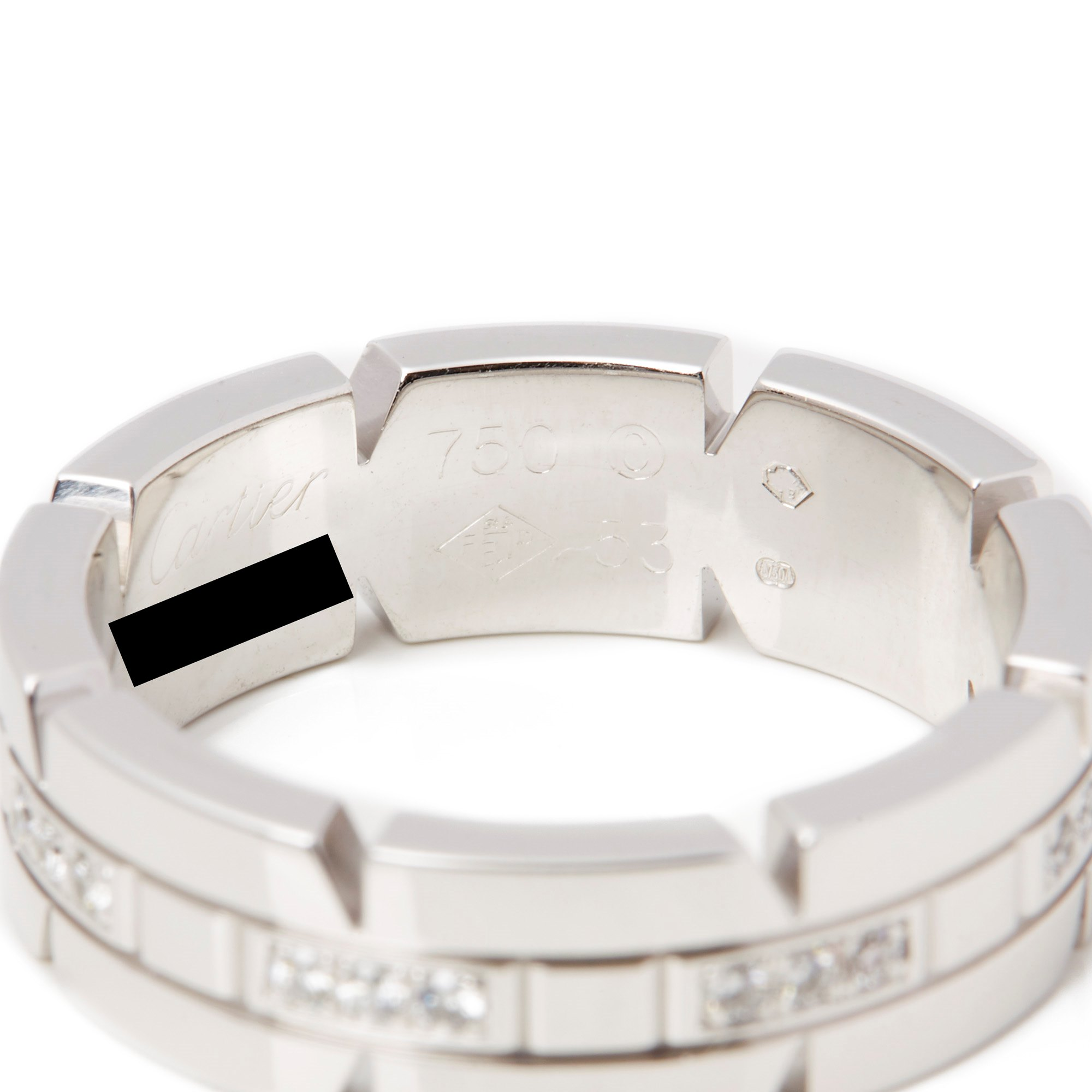 Cartier 18ct Gold Tank Francaise Ring
