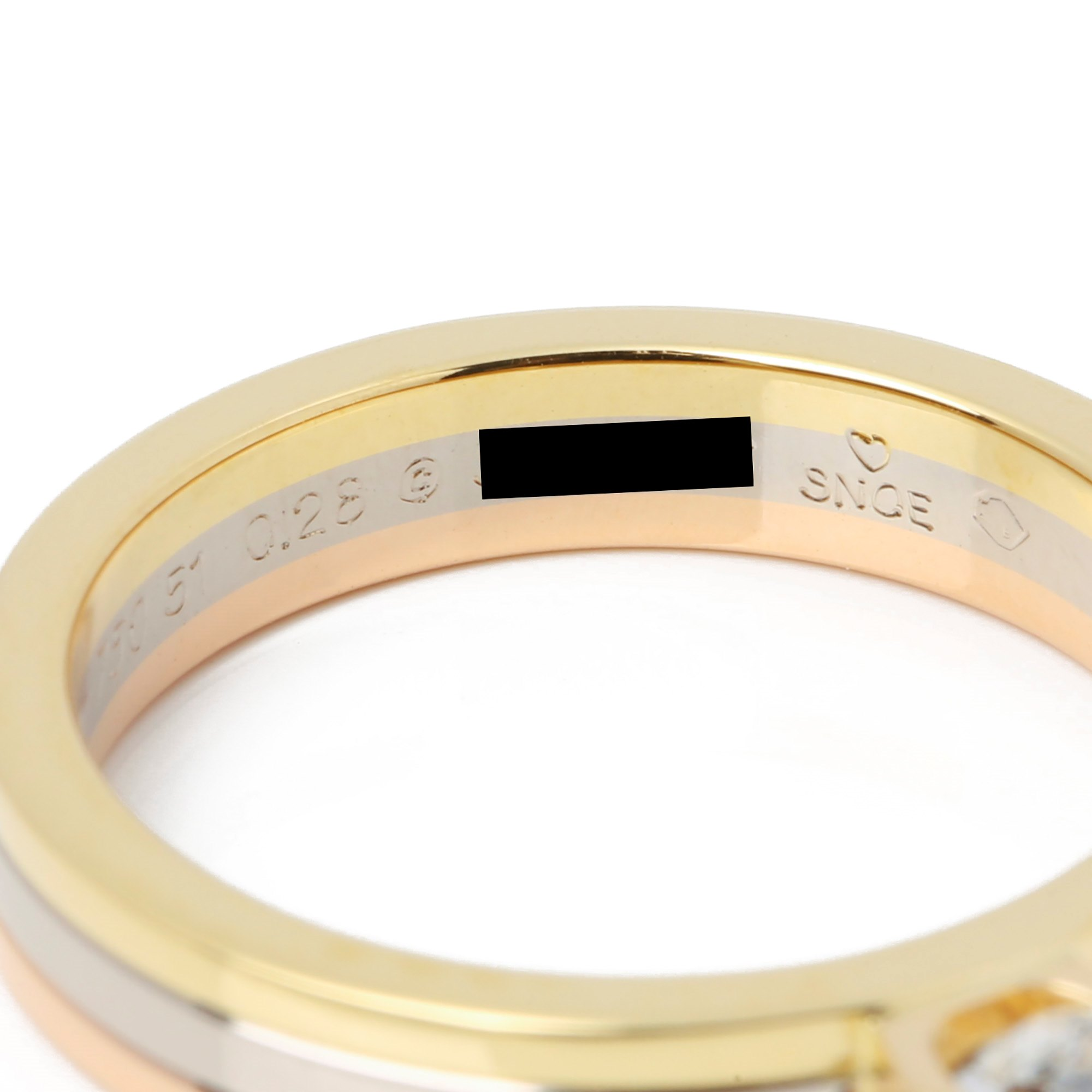 Cartier 18ct Gold Trinity solitaire ring