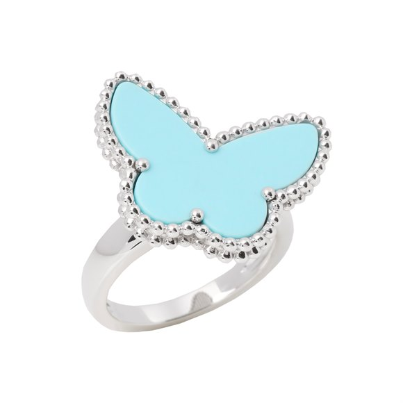 Van Cleef & Arpels Lucky Alhambra Turquoise Butterfly Ring