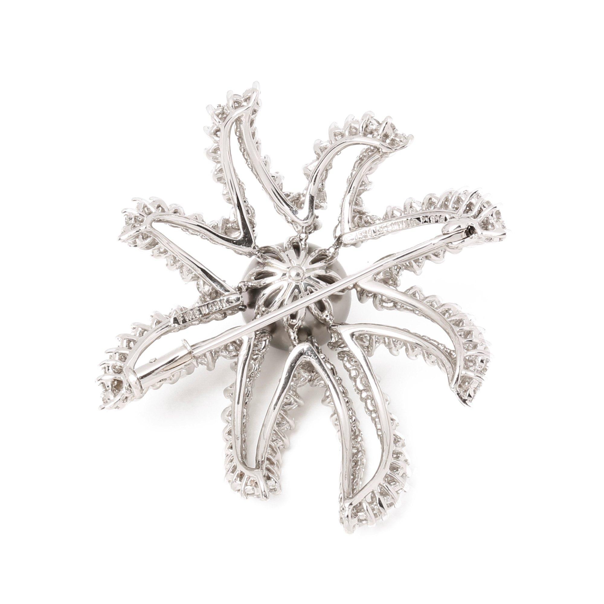 Tiffany & Co. Pearl & Diamond Fireworks Brooch