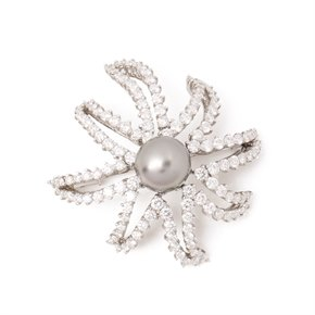 Tiffany & Co. Pearl & Diamond Fireworks Brooch