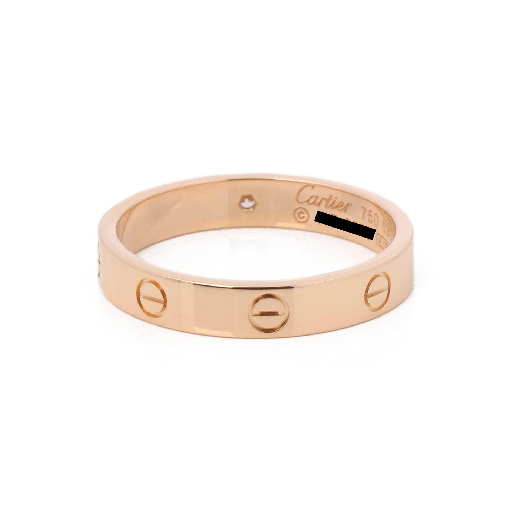 Cartier Love Wedding Band Ring 1 Diamond