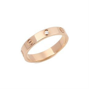 Cartier Love Wedding Band Ring 1 Diamond