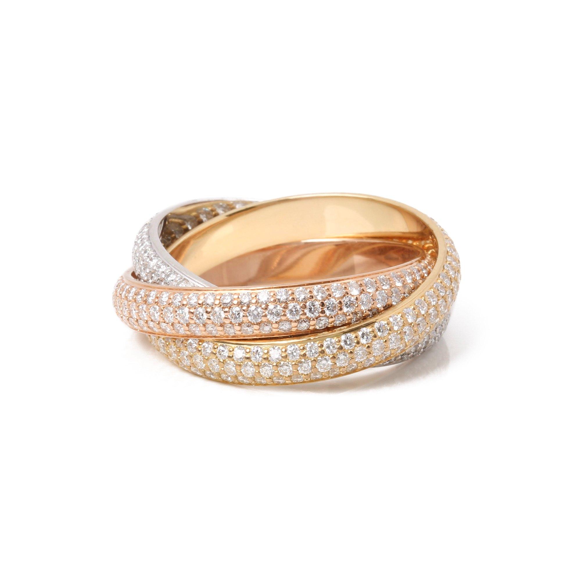 Cartier Trinity pave diamond ring