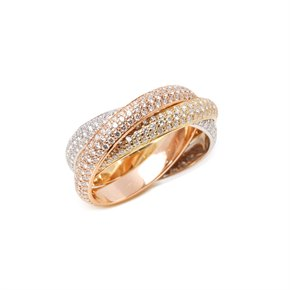 Cartier Trinity pave diamond ring