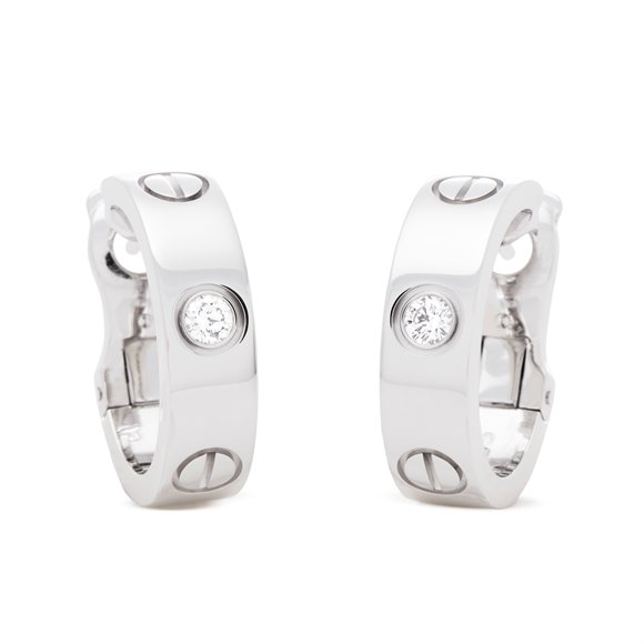 Cartier Love Earrings 2 Diamonds