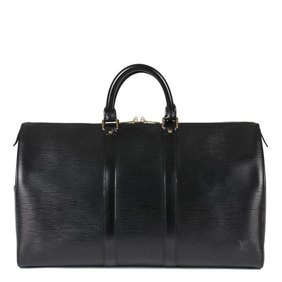 Louis Vuitton Black Epi Leather Vintage Keepall 50