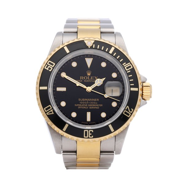 Rolex Submariner 18K Stainless Steel & Yellow Gold - 16613LN