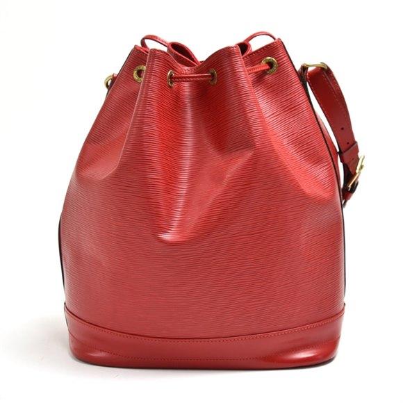 Louis Vuitton Red Epi Leather Petit Noé