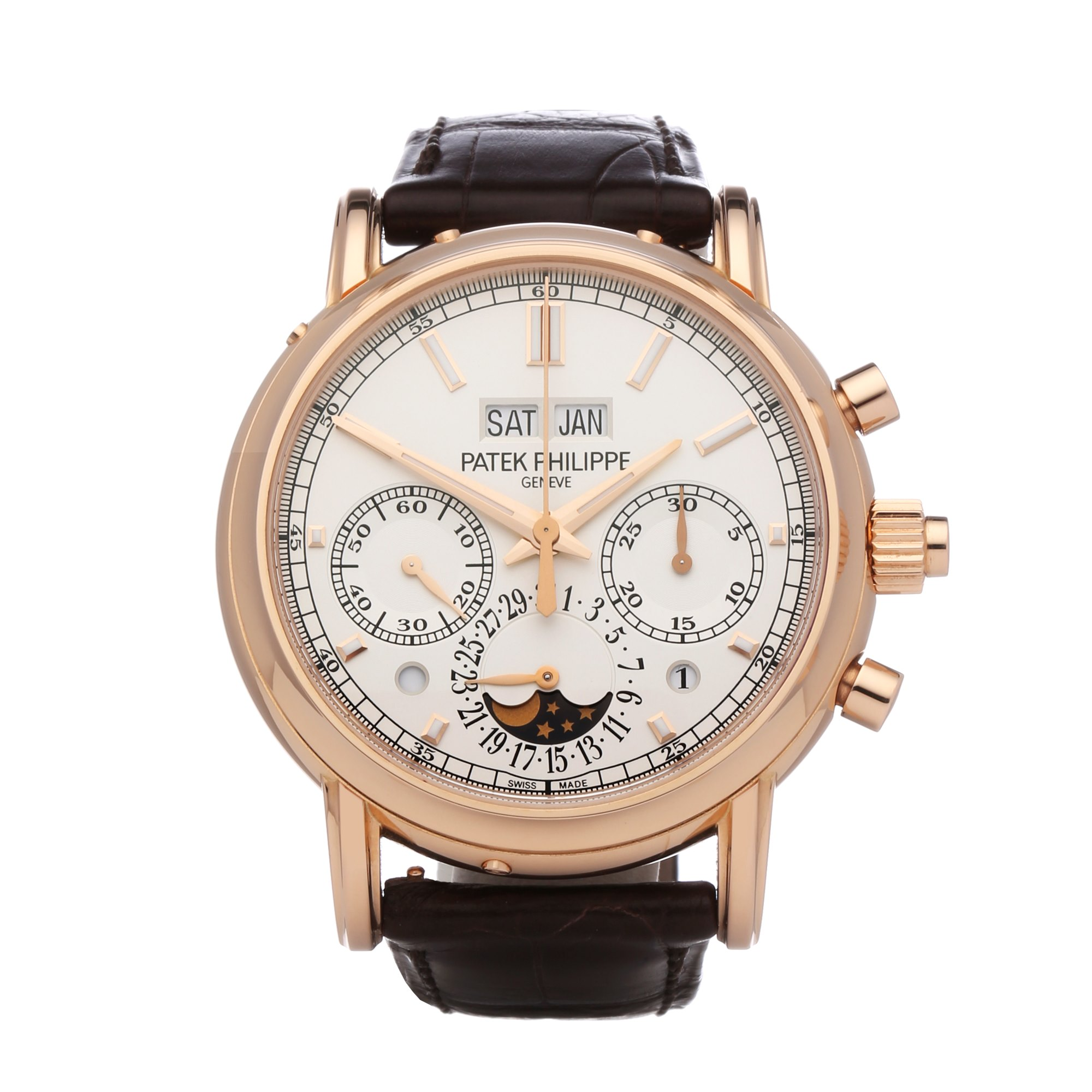 Patek Philippe Complications Perpetual Calendar Split Seconds Chronograph 18K Rose Gold - 5204R-001 Rose Gold 5204R-001
