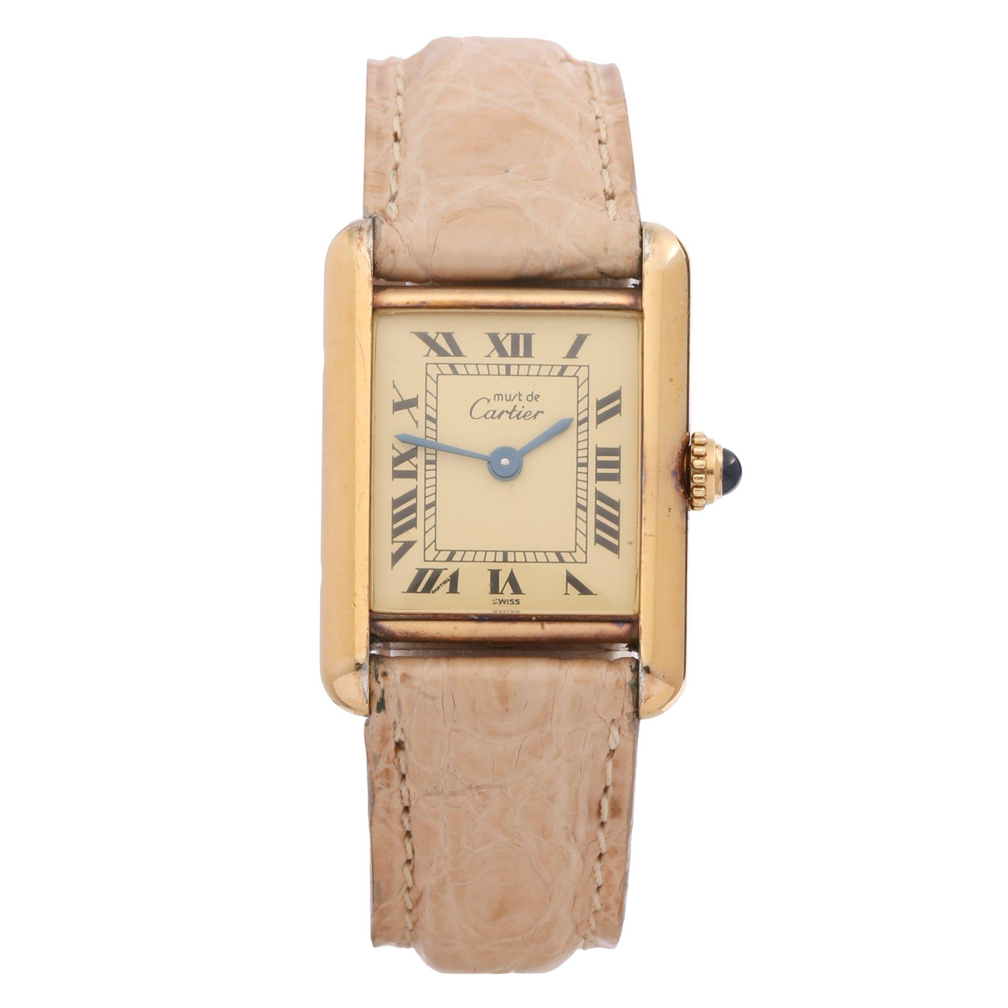 Cartier Must de Cartier 18K Gold Plated 58294