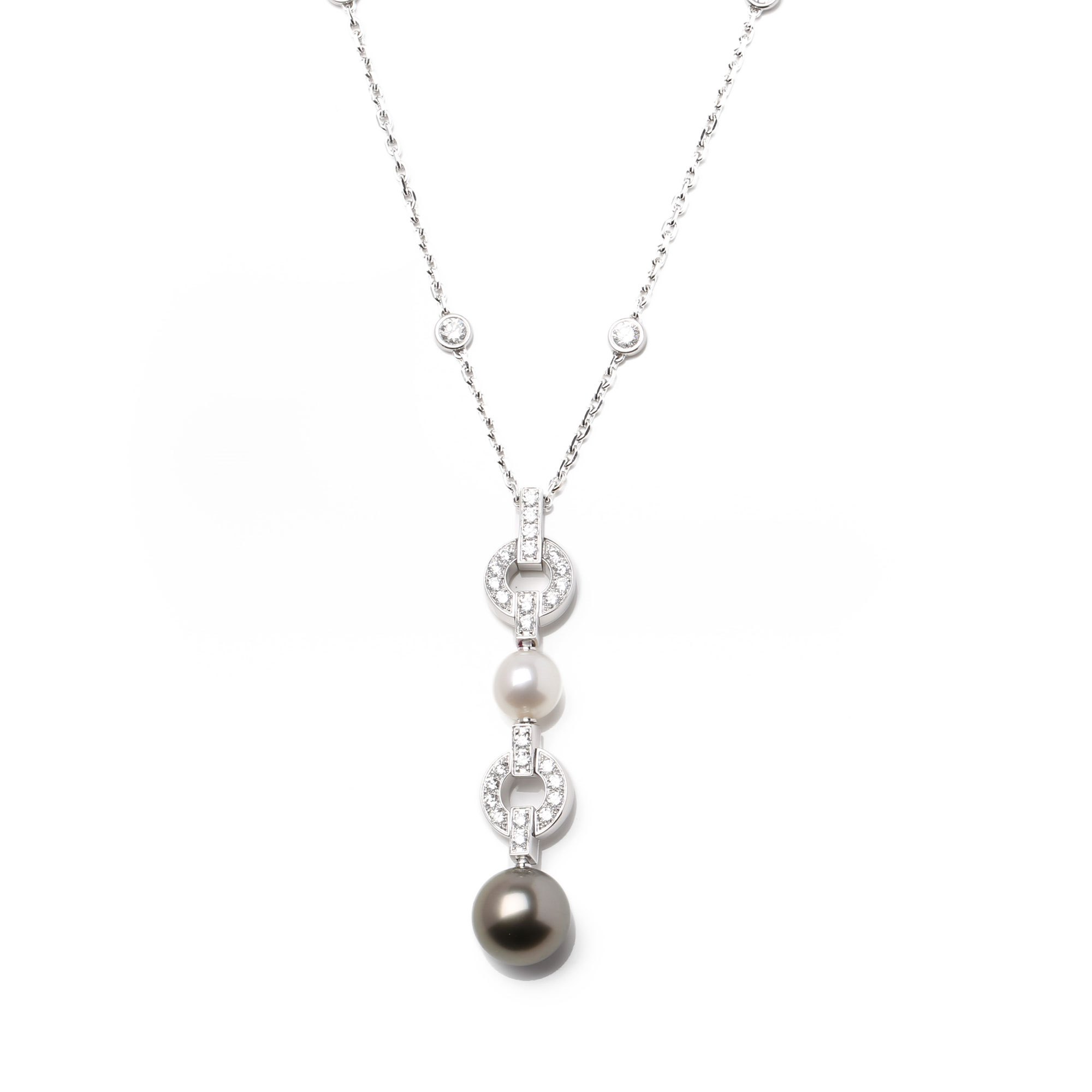 Cartier Himalia Diamond and Pearl Necklace