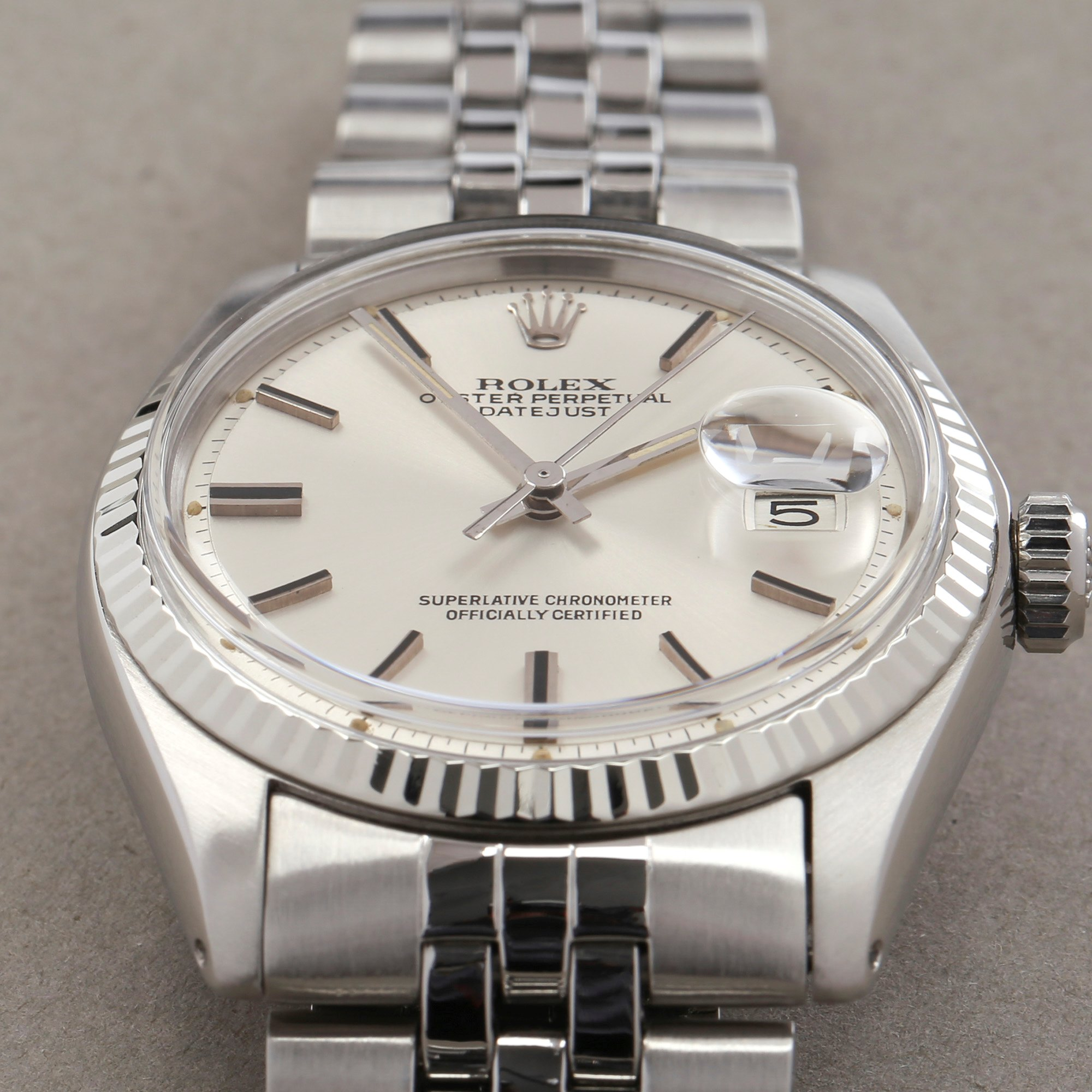 Rolex Datejust 36 Sigma Dial 18K White Gold & Stainless Steel 1601