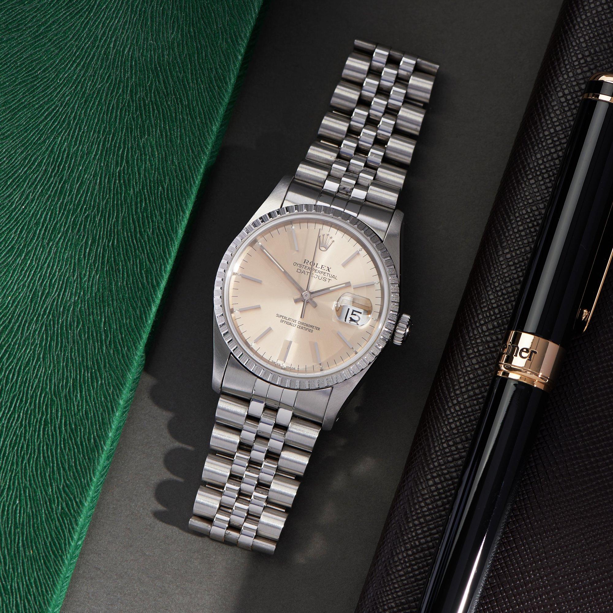 Rolex Datejust 36 18K White Gold & Stainless Steel 16220