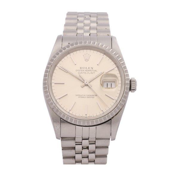 Rolex Datejust 36 18K White Gold & Stainless Steel - 16220