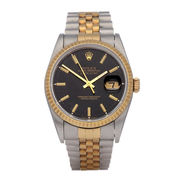 Rolex Datejust 36 18K Stainless Steel & Yellow Gold - 16233