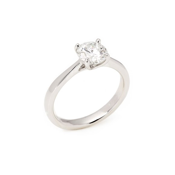 1.1ct Diamond Solitaire Platinum Ring