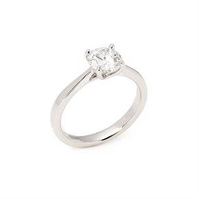 1.1ct Diamond Solitaire Platinum Ring