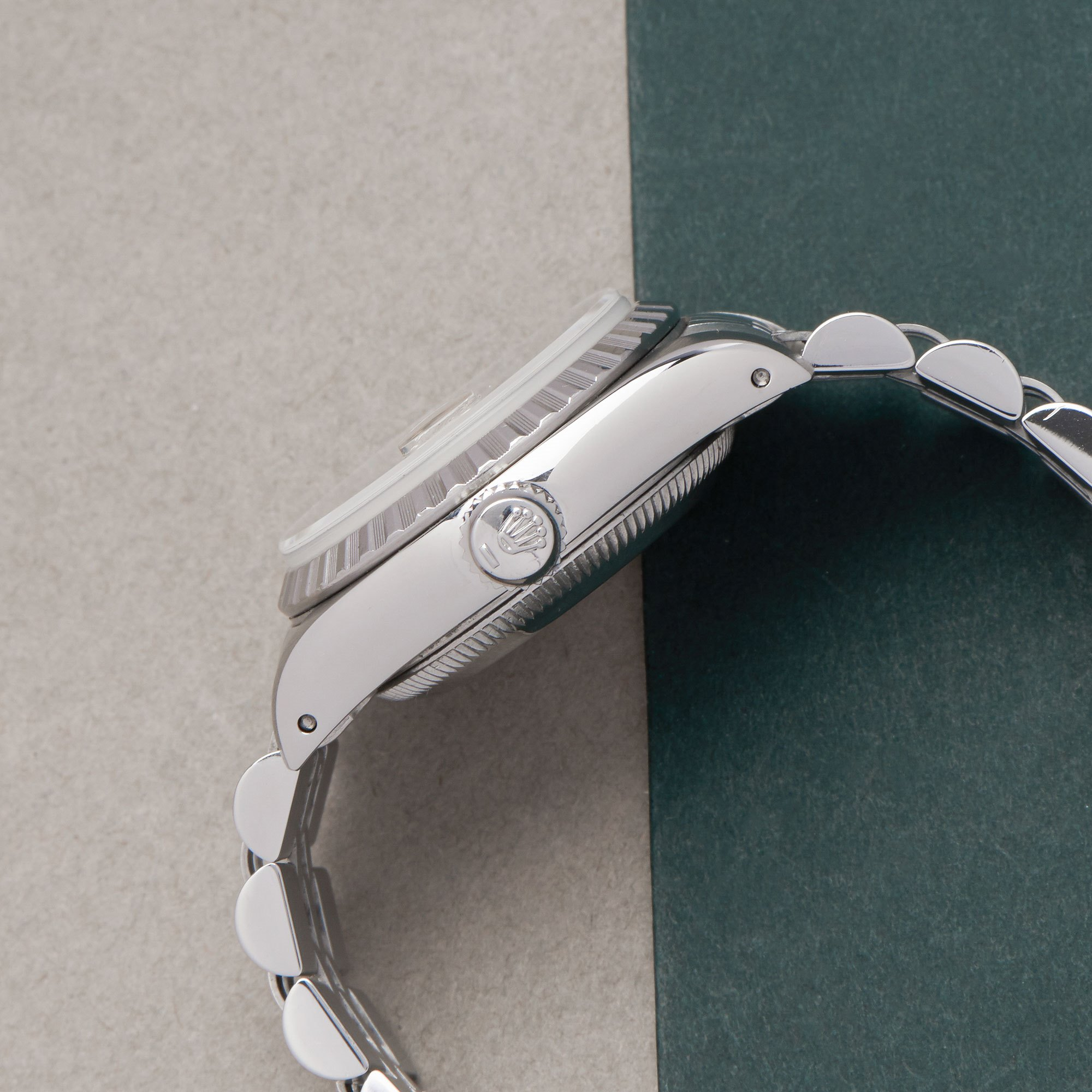 Rolex Oyster Perpetual Date 26 18K White Gold & Stainless Steel 69240