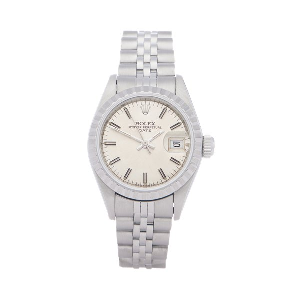 Rolex Oyster Perpetual Date 26 18K White Gold & Stainless Steel - 69240