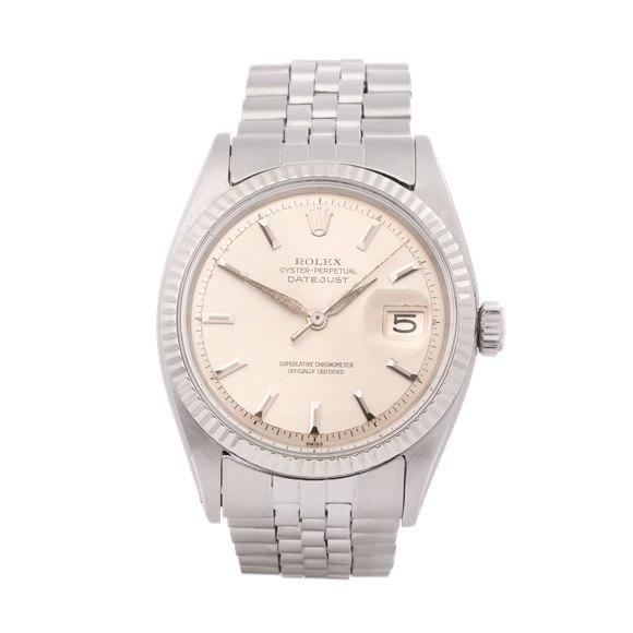 Rolex Datejust 36 Sword Hands 18K White Gold & Stainless Steel - 1601