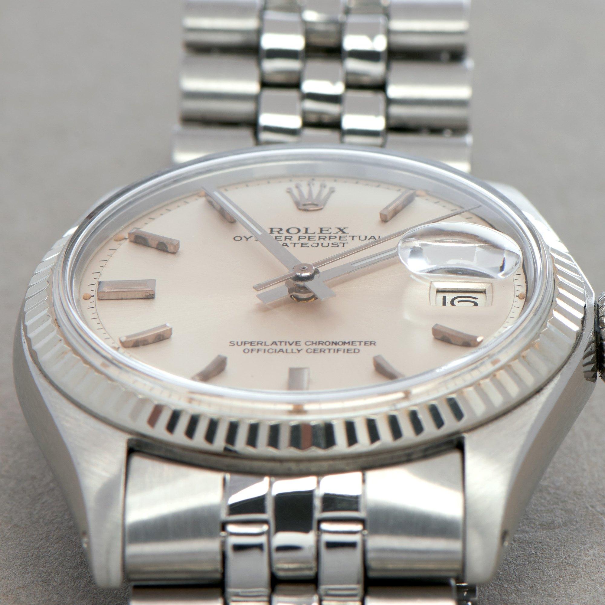 Rolex Datejust 36 18K White Gold & Stainless Steel 1601