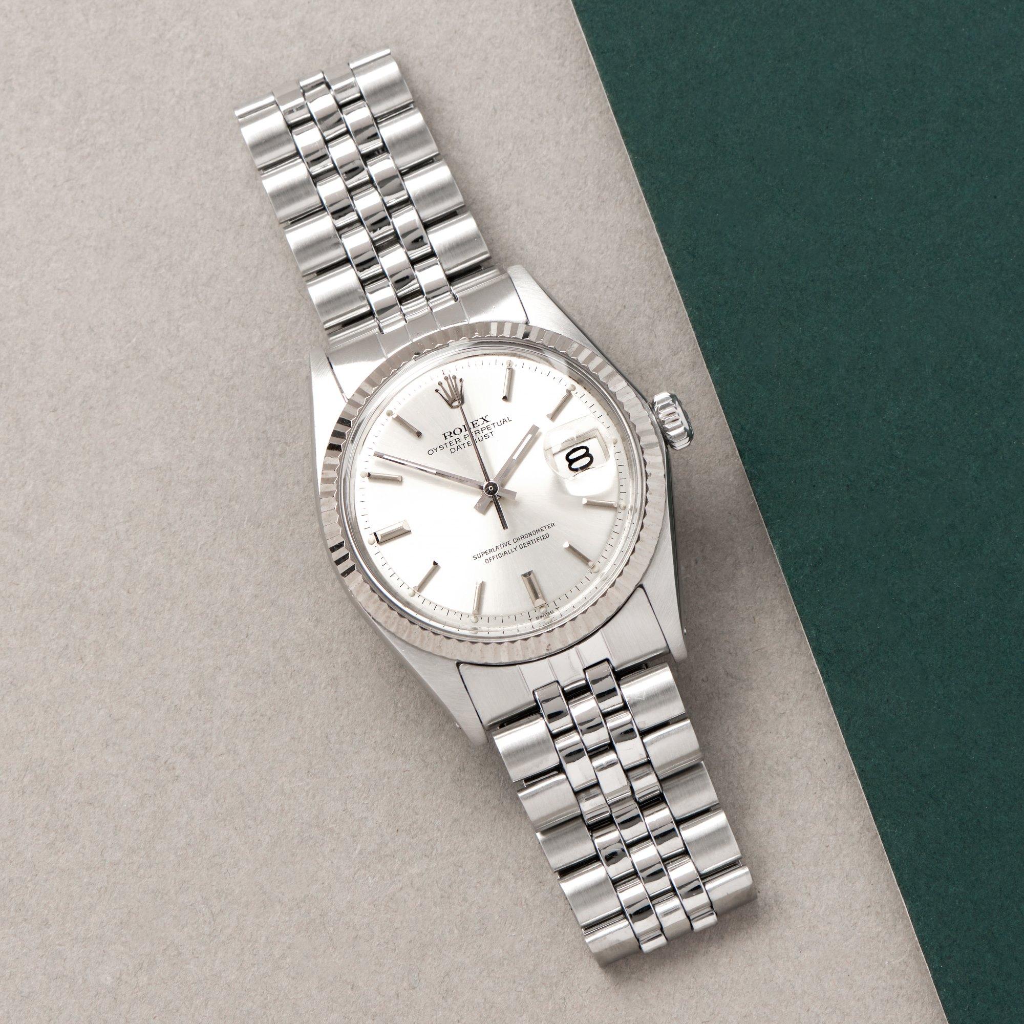 Rolex Datejust 36 18K White Gold & Stainless Steel 1603