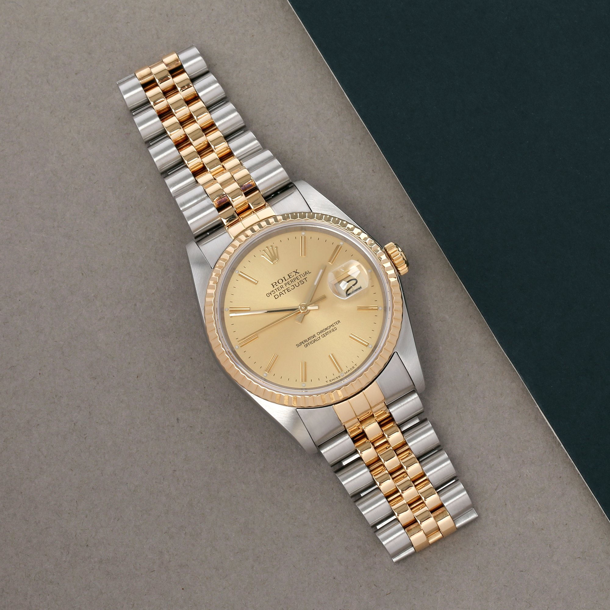 Rolex Datejust 36 18K Yellow Gold & Stainless Steel 16233