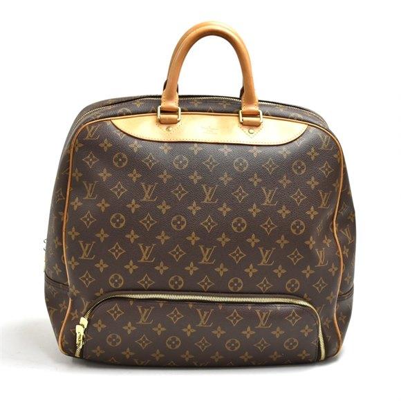 Louis Vuitton Brown Monogram Coated Canvas & Vachetta Leather Vintage Evasion Travel Bag