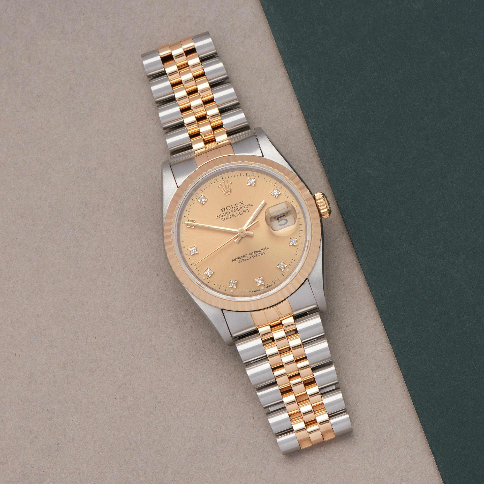 Rolex Datejust 36 18K Yellow Gold & Stainless Steel 16233G