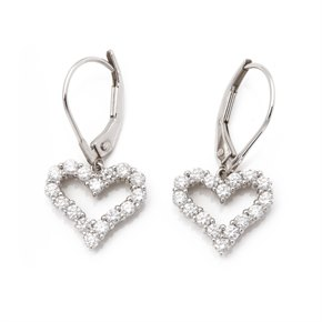 Tiffany & Co. Hearts Diamond Platinum Earrings