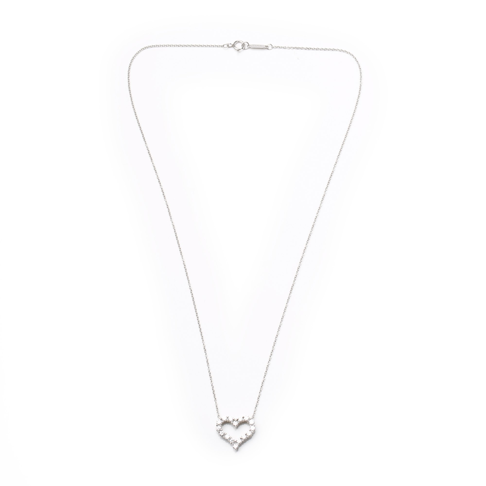 Tiffany & Co. Hearts Diamond Platinum Pendant