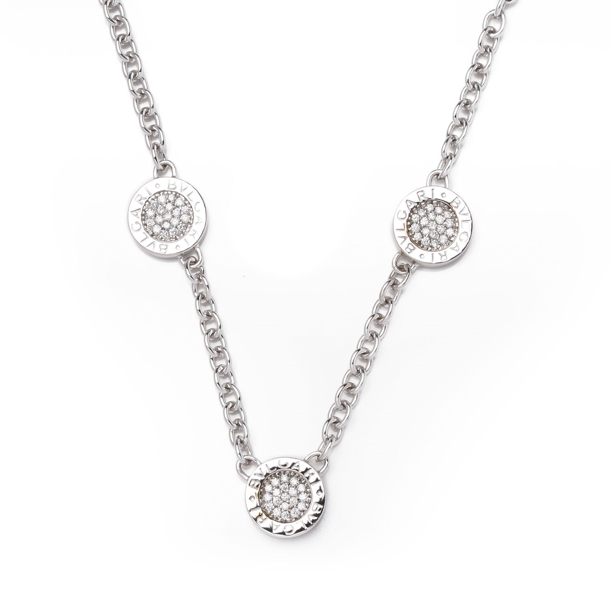 Bulgari Bulgari Bulgari Onyx and Diamond Necklace