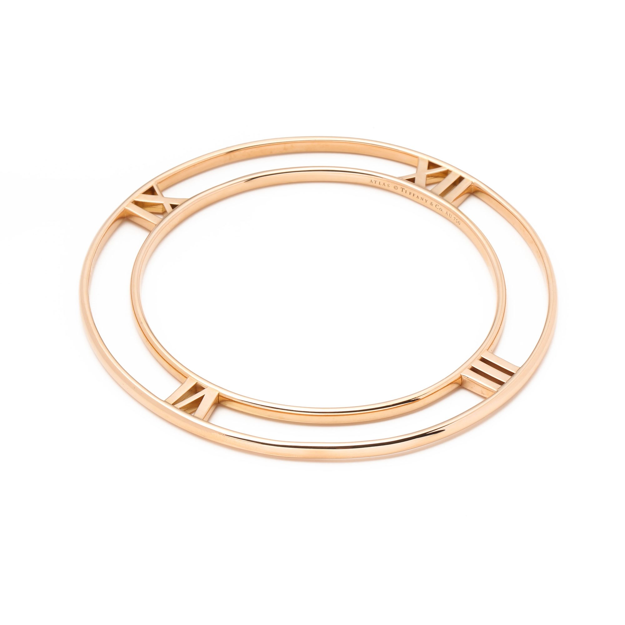 Tiffany & Co. 18k Rose Gold Flat Atlas Bangle
