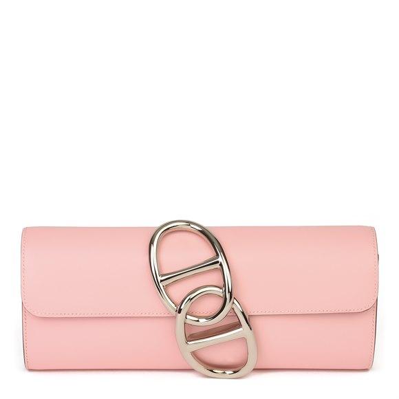 Hermès Rose Sakura Tadelakt Leather Egee