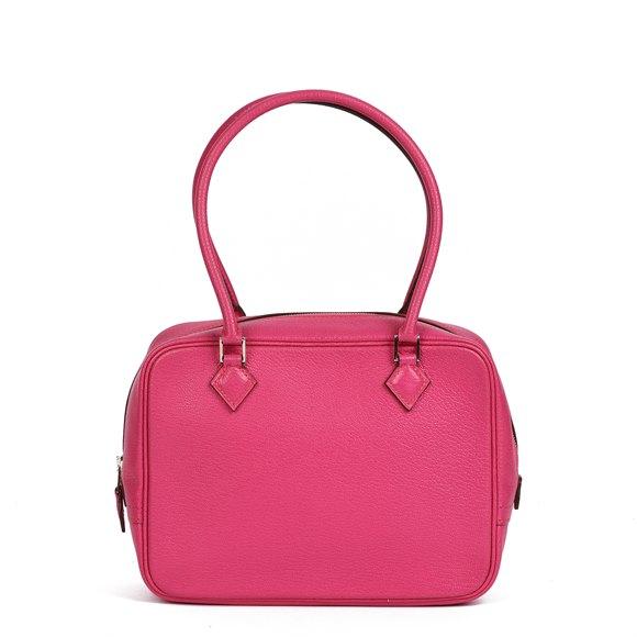 Hermès Rose Shocking Chevre Mysore Leather Plume 20cm