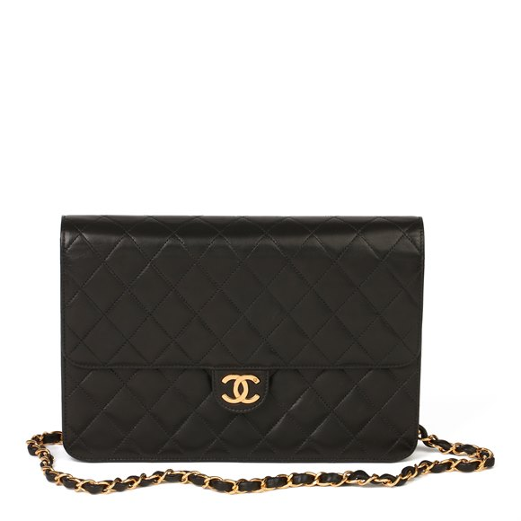 Chanel Black Quilted Lambskin Medium Classic Single Flap Bag